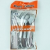 PLASTIC KNIFE/FORK/SPOON 24PC H/D - Click for more info